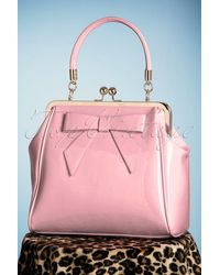 Banned Retro 50s American Vintage Patent Bag - Roze