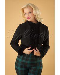 Collectif Clothing 50s Marcia Bolero Jacket - Zwart