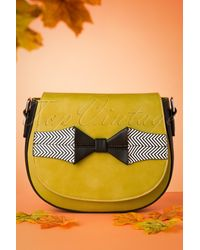 Banned Retro 60s Touch Of Grace Saddle Bag - Geel