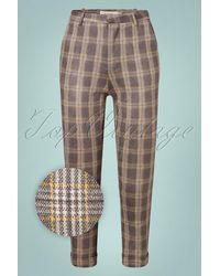 Louche 60s Jaylo Clan Check Trousers - Grijs