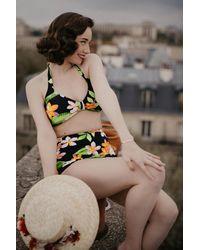 Esther Williams Swimwear 50s Classic Floral Bikini Top - Meerkleurig