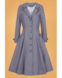 Collectif Clothing 50s Alyssa Swing Coat - Grijs