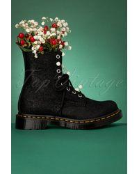 Dr. Martens 1460 Glitter Ray Boots - Zwart