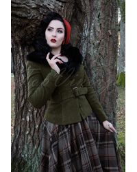 Collectif Clothing 40s Molly Jacket - Groen