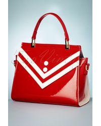 Banned Retro 50s Serene Waters Patent Handbag - Rood
