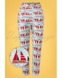 Banned Retro 50s Sail Away Capri Trousers - Meerkleurig