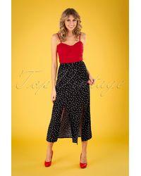 Banned Retro 60s The Polly Polka Maxi Skirt - Zwart