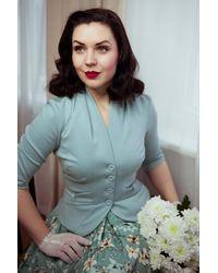 Miss Candyfloss 50s Adelaide Blazer Jacket - Blauw