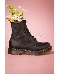 Dr. Martens 1460 Vonda Softie Floral Boots - Zwart