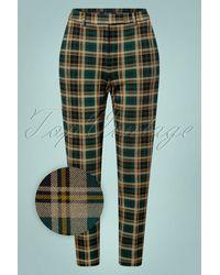 King Louie 60s Ann Rodeo Check Pants - Groen