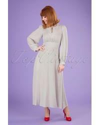 Closet 60s Vivi Polkadot Maxi Dress - Wit