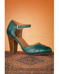 Miz Mooz 50s Jay Leather Pumps - Groen