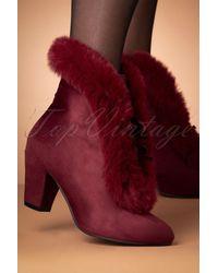 Lulu Hun 70s Tatiana Faux Fur Boots - Rood