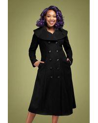 Collectif Clothing 50s Eileean Coat - Zwart