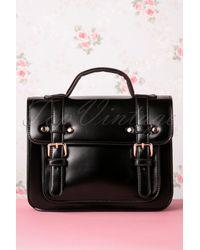 Banned Retro 50s Galatee Messenger Bag - Zwart