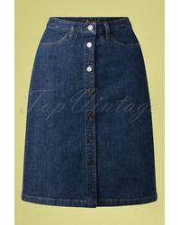 King Louie 60s Angie Denim Skirt - Blauw