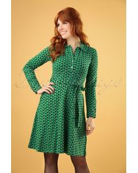 Circus by Sam Edelman 60s Beanstalk Swing Dress - Groen