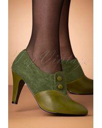 Lulu Hun 50s Maria Shoe Booties - Groen