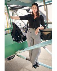 Banned Retro 50s Fly Away Shirt - Zwart