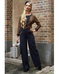 Miss Candyfloss 50s Melanie-lee Jumpsuit - Blauw