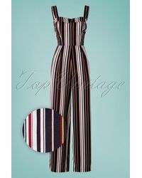 Banned Retro 60s Sunny Stripes Jumpsuit - Meerkleurig