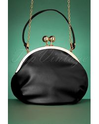 Collectif Clothing 50s Milly Elegant Daytime Bag - Zwart
