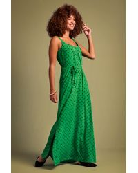 King Louie 60s Allison Pablo Maxi Dress - Groen