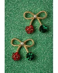 Collectif Clothing 50s Sweetheart Bow Studs - Groen