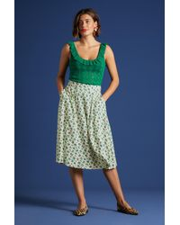 King Louie 50s La Paz Circle Skirt - Groen