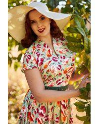Miss Candyfloss 50s Acilia Swing Dress - Meerkleurig