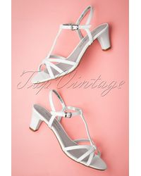 Tamaris 50s Patent Strappy Sandals - Wit
