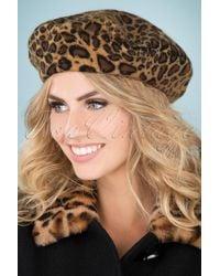 Collectif Clothing 60s Leona Wool Beret - Naturel