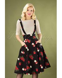 Collectif Clothing 50s Alexa Apple Swing Skirt - Meerkleurig