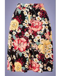 King Louie 70s Serena Carioca Button Skirt - Meerkleurig