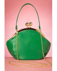 Collectif Clothing 50s Milly Elegant Daytime Bag - Groen