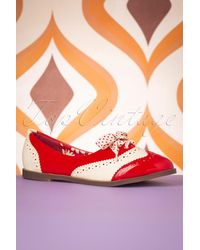 Banned Retro 60s Milana Brogues - Rood
