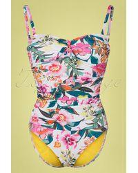 Cyell 50s Las Colorados Floral Bathingsuit - Meerkleurig