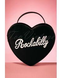 Lulu Hun 50s Bina Rockabilly Heart Bag - Zwart