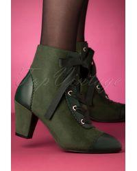 Lulu Hun 40s Selma Half Boots - Groen