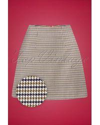 Banned Retro 60s Check Mate Skirt - Meerkleurig