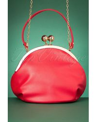 Collectif Clothing 50s Milly Elegant Daytime Bag - Rood