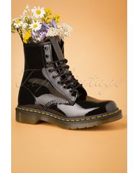 Dr. Martens - 1460 Lamper Patent Ankle Boots - Lyst
