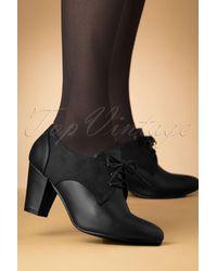 Lulu Hun 40s Vera Shoe Booties - Zwart