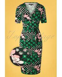 King Louie 50s Anja Hollywood Dress - Groen