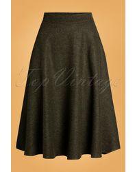 Banned Retro 40s Shirley Swing Skirt - Groen