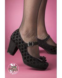 Ruby Shoo 50s Frankie Velvet Pumps - Zwart