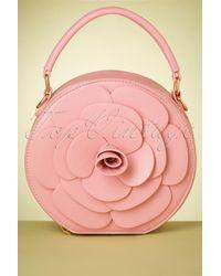 Lulu Hun 50s Flora Rose Bag - Roze