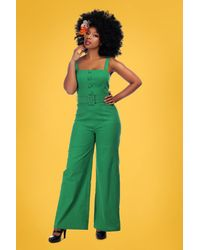 Collectif Clothing 50s Olympia Jumpsuit - Groen