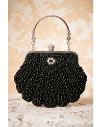 Banned Retro 20s Eleanor Beaded Handbag - Zwart