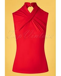 Banned Retro 50s Hey Jude Top - Rood